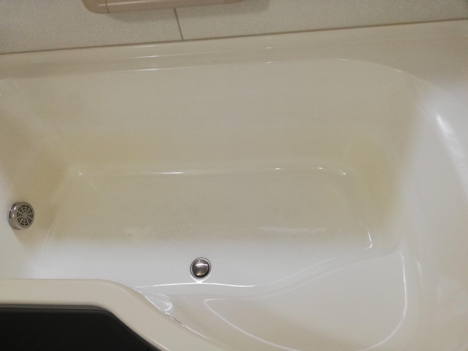 浴室の黒ずみリングをキレイにとりたい!After